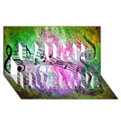 Abstract Music 2 Laugh Live Love 3d Greeting Card (8x4)