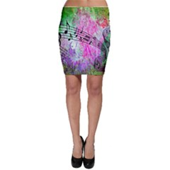 Abstract Music 2 Bodycon Skirts