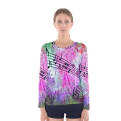 Abstract Music 2 Women s Long Sleeve T-shirts
