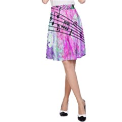 Abstract Music 2 A-Line Skirts
