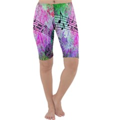 Abstract Music 2 Cropped Leggings