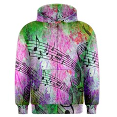 Abstract Music 2 Men s Zipper Hoodies