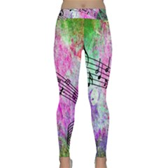 Abstract Music 2 Yoga Leggings