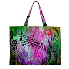 Abstract Music 2 Zipper Tiny Tote Bags