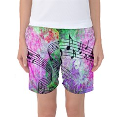 Abstract Music 2 Women s Basketball Shorts