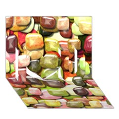 Stones 001 I Love You 3d Greeting Card (7x5)