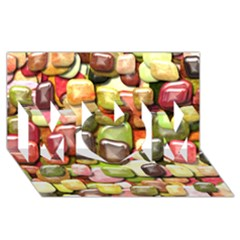 Stones 001 Mom 3d Greeting Card (8x4)