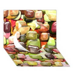 Stones 001 Heart 3d Greeting Card (7x5)