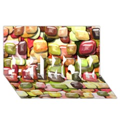 Stones 001 #1 Mom 3d Greeting Cards (8x4)