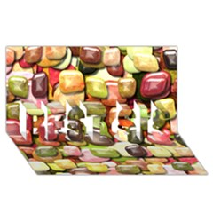 Stones 001 BEST SIS 3D Greeting Card (8x4)