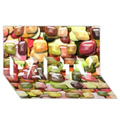 Stones 001 PARTY 3D Greeting Card (8x4)