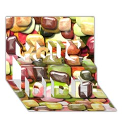 Stones 001 You Did It 3D Greeting Card (7x5)