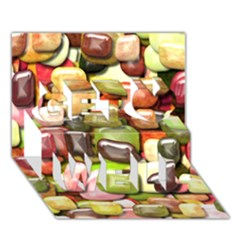 Stones 001 Get Well 3D Greeting Card (7x5)