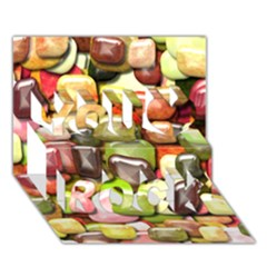 Stones 001 You Rock 3d Greeting Card (7x5)