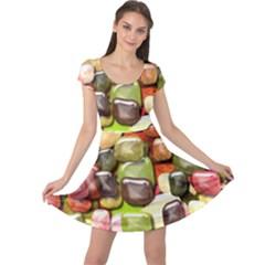 Stones 001 Cap Sleeve Dresses