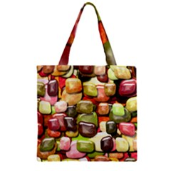 Stones 001 Zipper Grocery Tote Bags