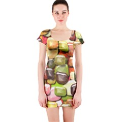 Stones 001 Short Sleeve Bodycon Dresses