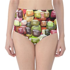 Stones 001 High-Waist Bikini Bottoms