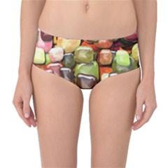 Stones 001 Mid-Waist Bikini Bottoms