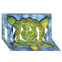 Turtle MOM 3D Greeting Card (8x4)