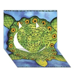 Turtle Heart 3d Greeting Card (7x5)