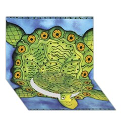Turtle Circle Bottom 3D Greeting Card (7x5)