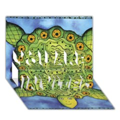 Turtle You Are Invited 3d Greeting Card (7x5)