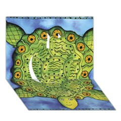 Turtle Apple 3d Greeting Card (7x5)
