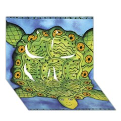 Turtle Clover 3D Greeting Card (7x5)