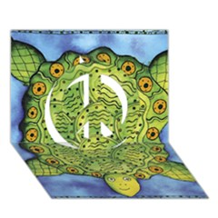 Turtle Peace Sign 3D Greeting Card (7x5)