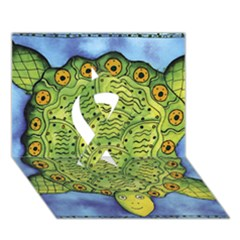 Turtle Ribbon 3d Greeting Card (7x5)
