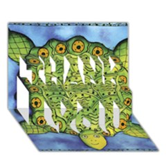 Turtle THANK YOU 3D Greeting Card (7x5)