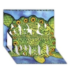 Turtle Get Well 3D Greeting Card (7x5)