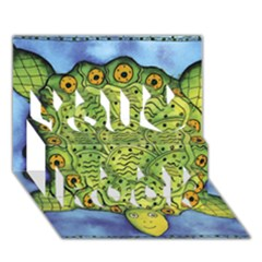 Turtle You Rock 3D Greeting Card (7x5)