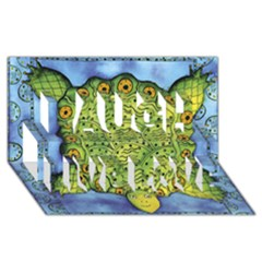 Turtle Laugh Live Love 3d Greeting Card (8x4)