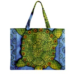 Turtle Zipper Tiny Tote Bags