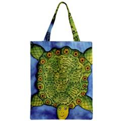 Turtle Zipper Classic Tote Bags