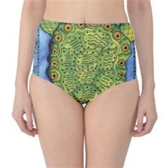 Turtle High-Waist Bikini Bottoms