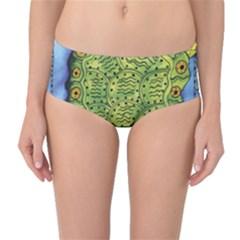 Turtle Mid Waist Bikini Bottoms