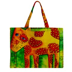 Spotty Dog Zipper Tiny Tote Bags