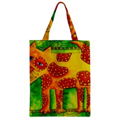 Spotty Dog Zipper Classic Tote Bags