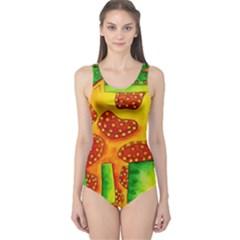 Spotty Dog Women s One Piece Swimsuits