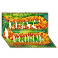 Patterned Snake Best Friends 3D Greeting Card (8x4)