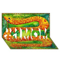 Patterned Snake #1 Mom 3d Greeting Cards (8x4)