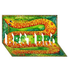 Patterned Snake BEST BRO 3D Greeting Card (8x4)