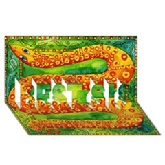 Patterned Snake BEST SIS 3D Greeting Card (8x4)