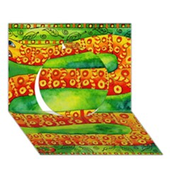 Patterned Snake Circle 3D Greeting Card (7x5)