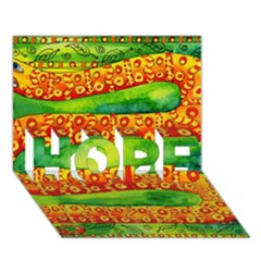 Patterned Snake HOPE 3D Greeting Card (7x5)