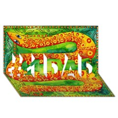 Patterned Snake #1 DAD 3D Greeting Card (8x4)