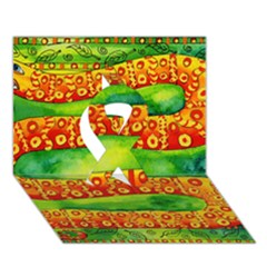 Patterned Snake Ribbon 3D Greeting Card (7x5)